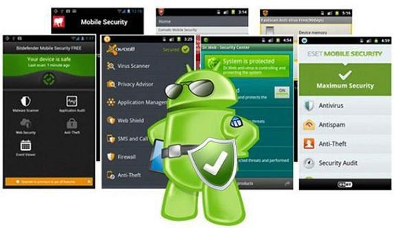 зеленый человечек Андроид и дисплеи телефонов