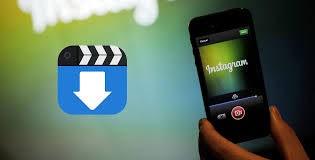 значок загрузки и смартфон с надписью Instagram