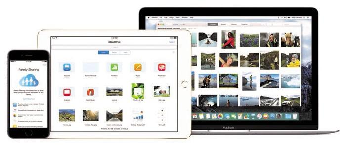 разные устройства с iOS