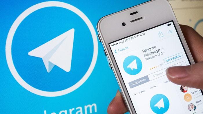 ярлык сервиса и приложение Телеграмм в смартфоне