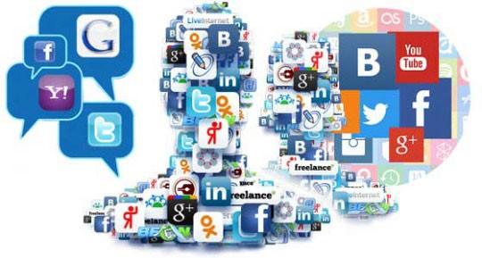 логотипы разных соцсетей