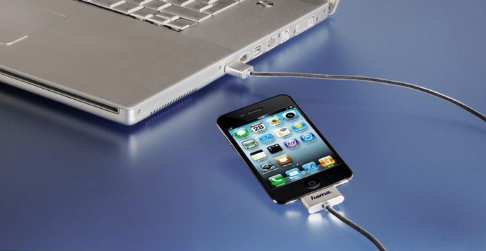 подключение кабелем ПК и телефона