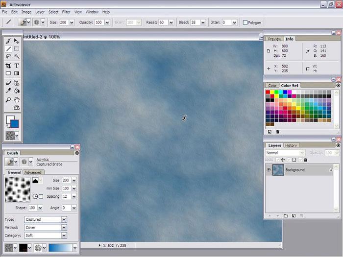 панель инструментов и поле для работы в редакторе