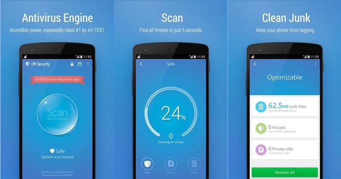 дисплей смартфона с запуском сканирования и результатами