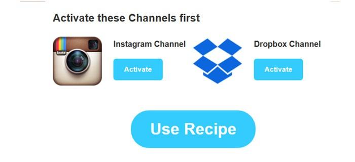 каналы Инстаграм и Dropbox