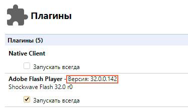 Страница плагинов Yandex