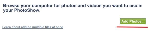 кнопка добавления фотографии