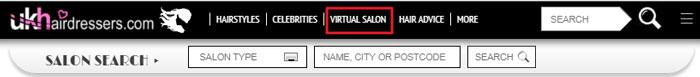 раздел Виртуальный салон в меню сервиса