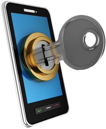 смартфон закрывается на ключ