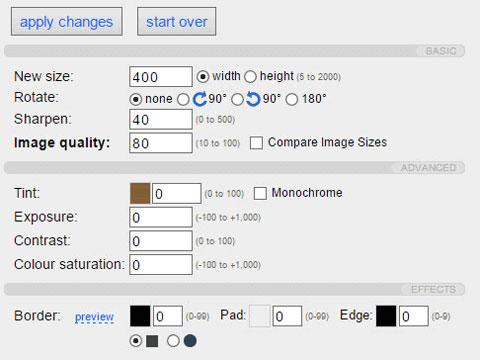 установка параметров сжатия