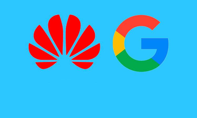Логотипы Хуавеи и Гугл