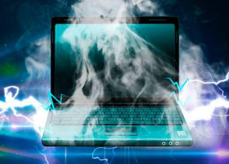 Дымящийся ноутбук